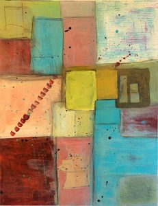 Mixed Media abstract art by Florence Ancillotti