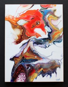 abstract acrylic painting for sale by Florence Ancillotti
