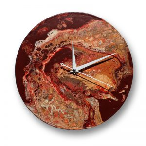 Vinyl Record Clock with Acrylic pour by Florence Ancillotti