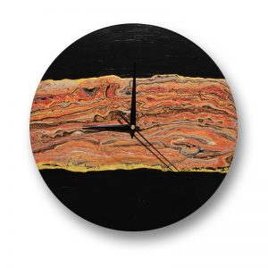 Vinyl Record Clock with Acrylic pour