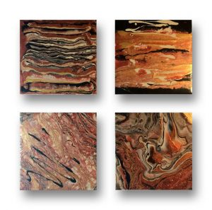acrylic paint on coasters by Florence Ancillotti