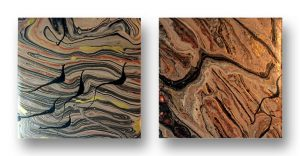 acrylic pour coasters by Florence Ancillotti