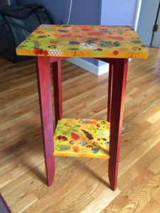 Mixed Media painted table by Florence Ancillotti