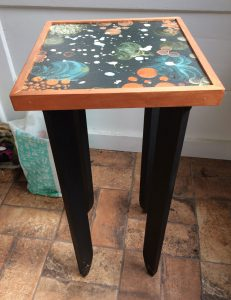 hand-painted stand by Florence Ancillotti