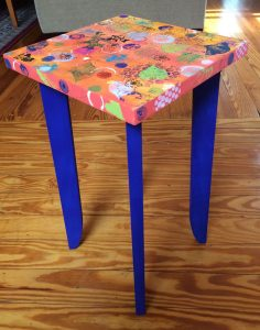 mixed media on custom table by Florence Ancillotti