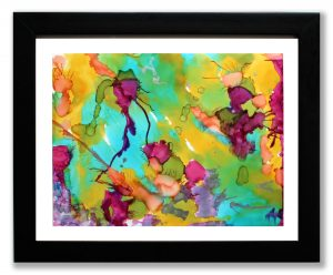 Alcohol Ink art - framed by Florence Ancillotti