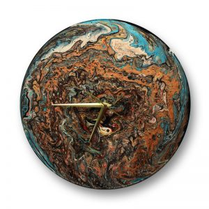 acrlic painted record clock by Florence Ancillotti
