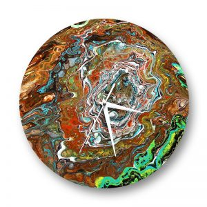 acrylic pour on vinyl record by Florence Ancillotti
